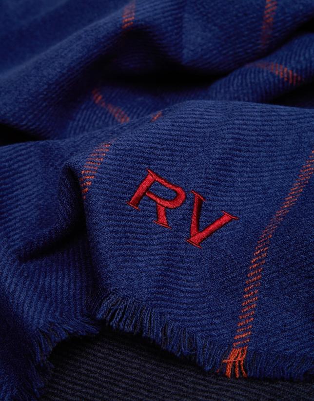 Bufanda bicolor tonos azules
