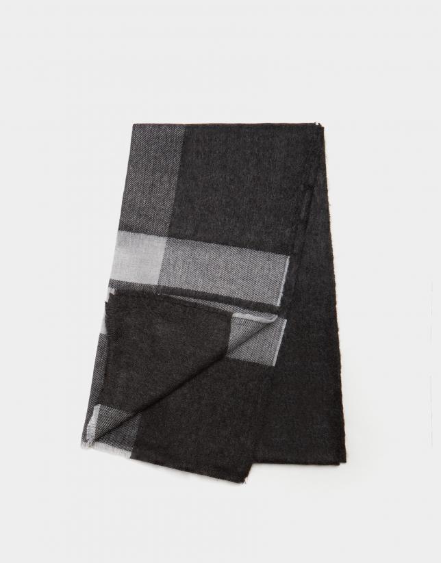 Bufanda cuadros tonos gris