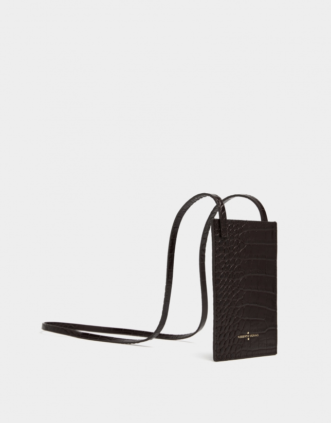 Bolso Portamóvil coco marrón oscuro