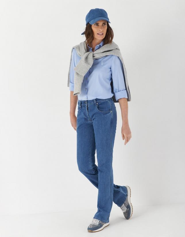 Pantalón jean bolsillos azul