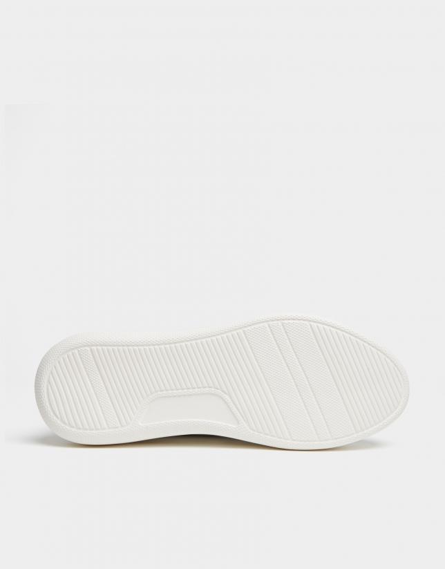 Zapatilla deportiva piel blanca