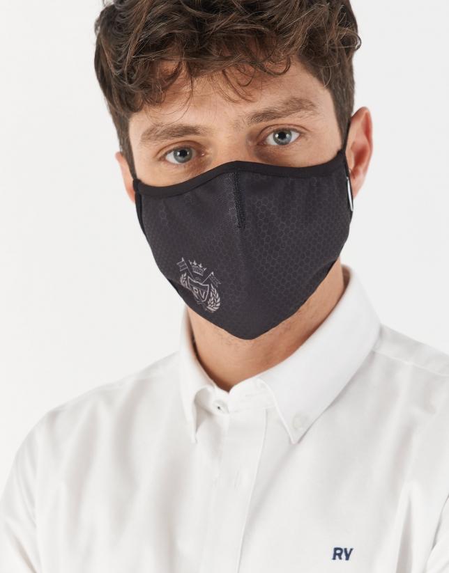 Black RV shield mask