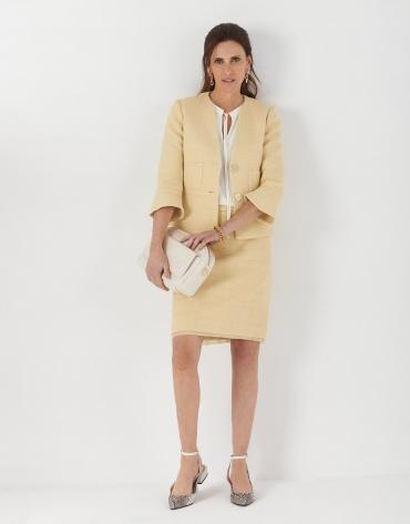 Falda jaquard amarillo