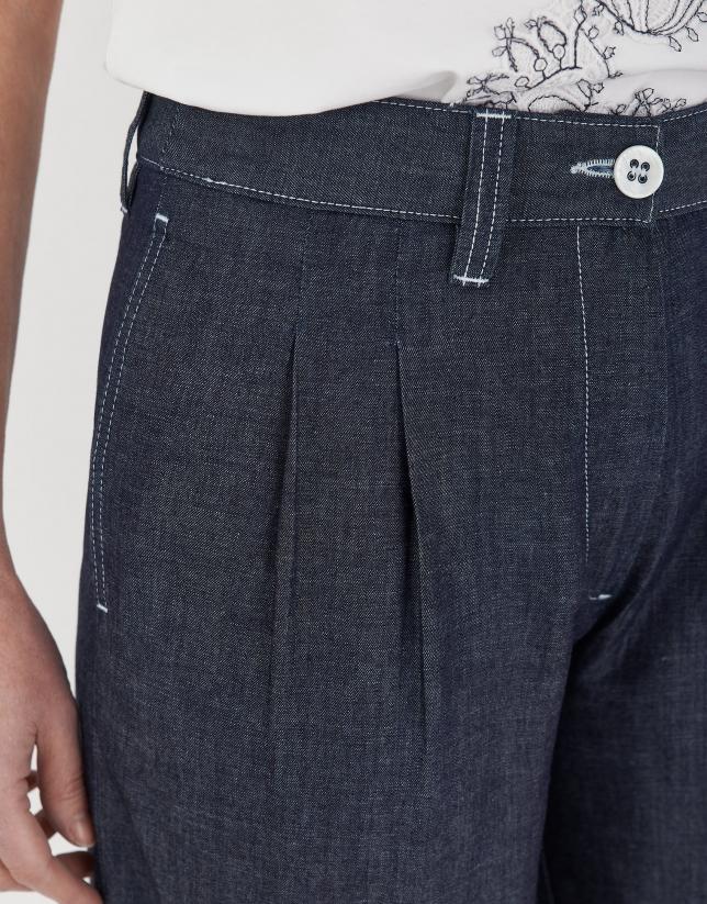 Blue jean bermuda shorts