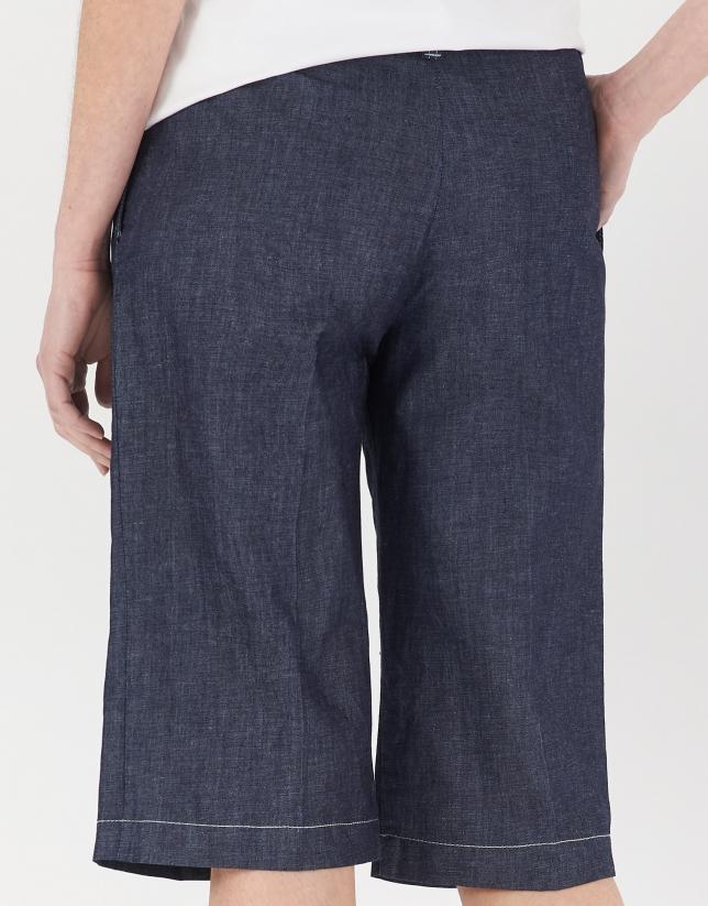 Pantalón bermuda vaquero azul