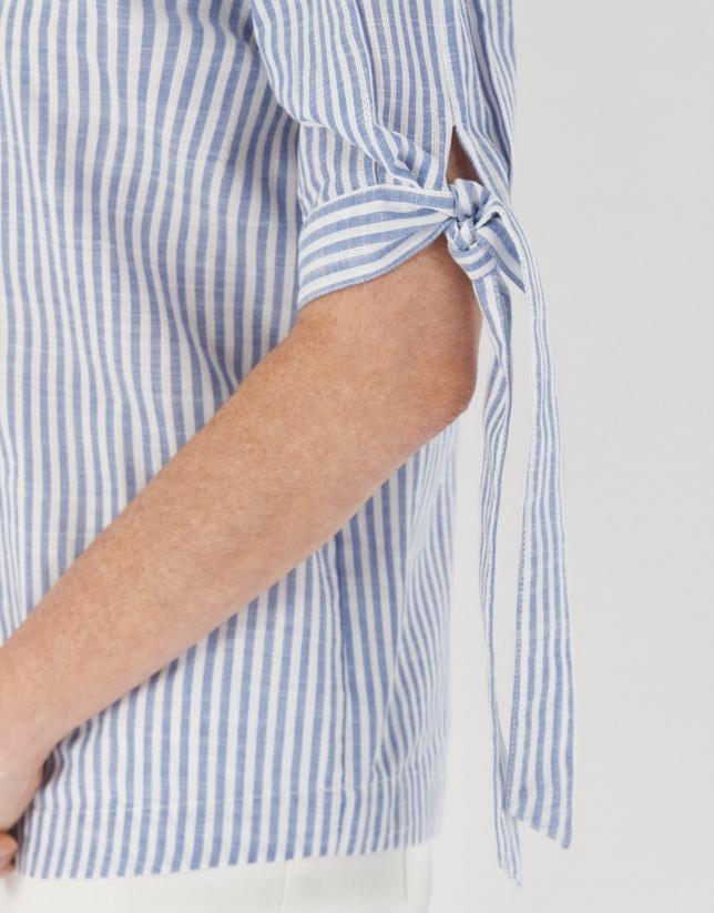 Blusa rayas azules con escote barco