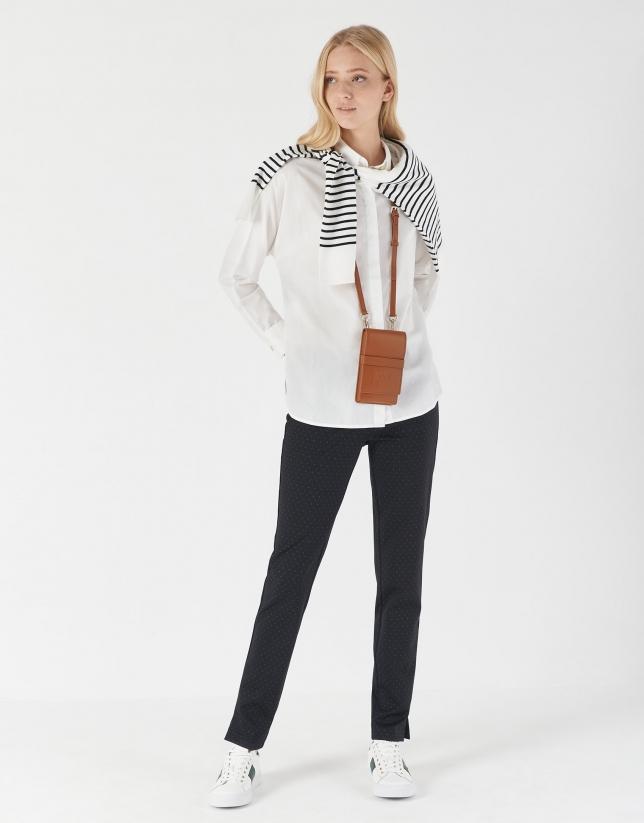 Blusón manga larga blanca