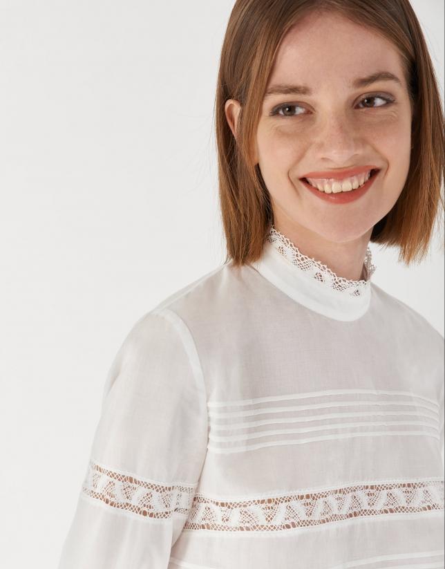 Camisa romántica blanca