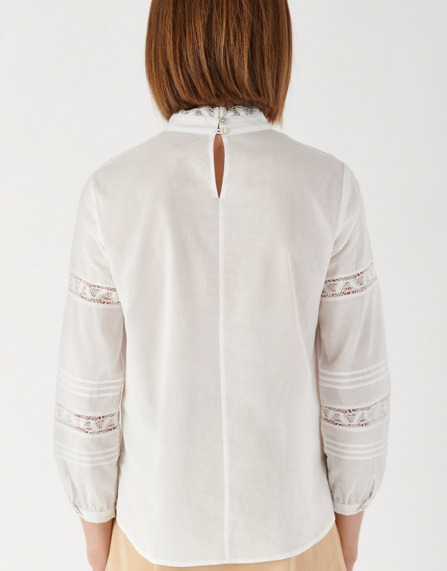 White old-fashioned style shirt
