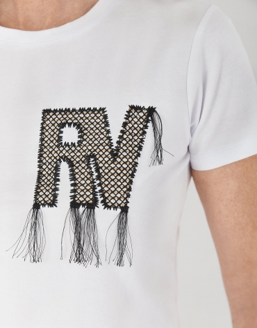 White top with RV logo and fringe