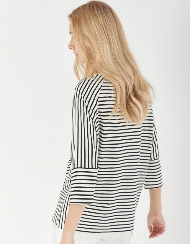 Black and white striped oversize top