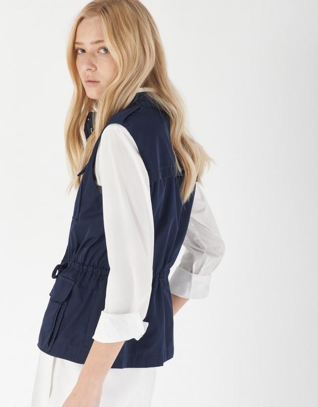 Navy blue light vest