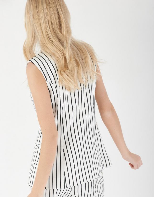 Chaleco rayas blanco y negro