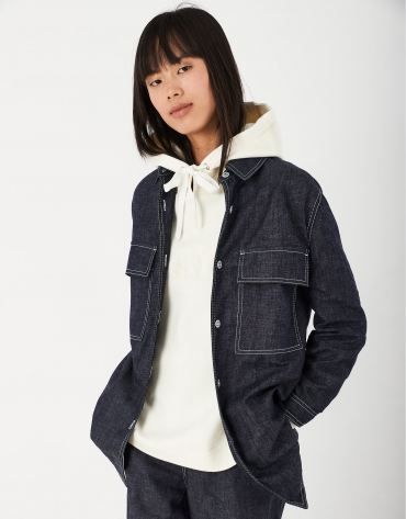 Blue jean shirt jacket