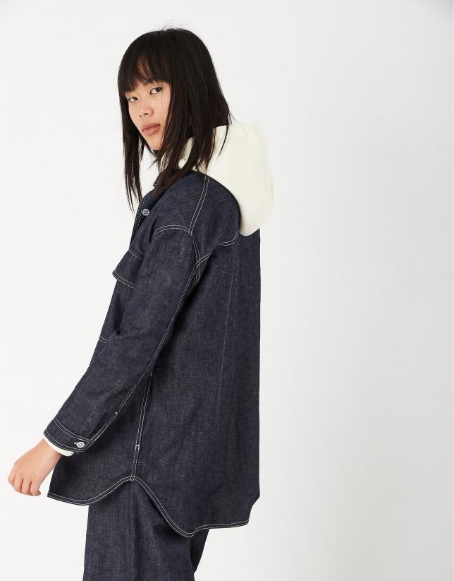Abrigo sobrecamisa vaquero azul