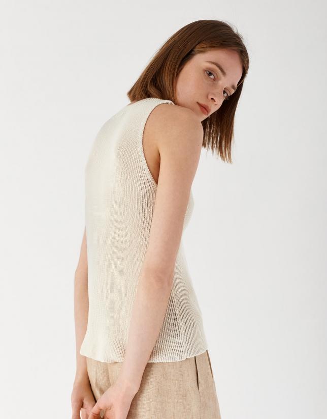 Off white knit jacket