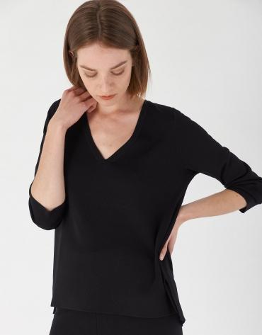 Jersey oversize aberturas laterales negro