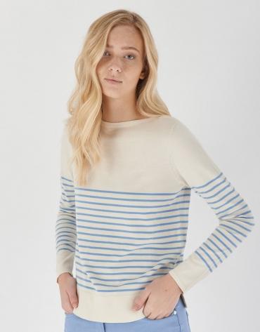Jersey marinero crudo rayas azules
