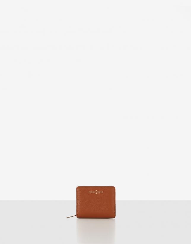 Tan small leather bilfold