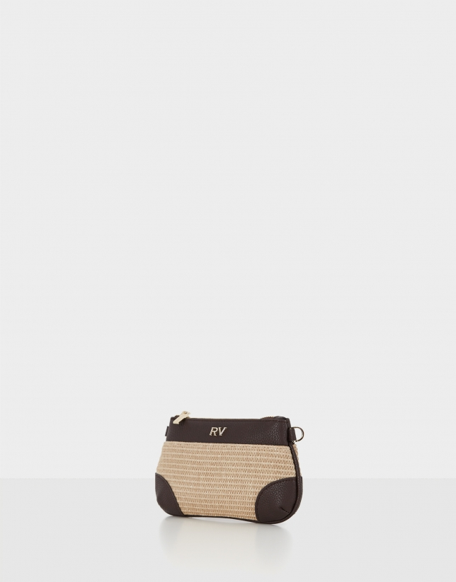 Mini cream pocket bag