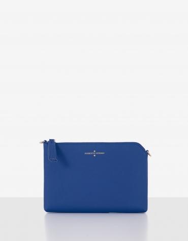 Blue Saffiano leather Lisa Clutch