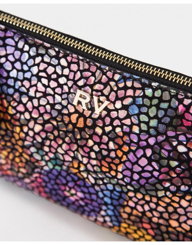 Bolso clutch Lisa Nano piel fantasía multicolor