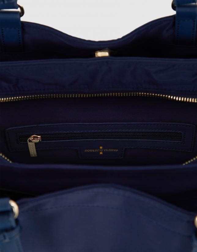 Blue nylon Roxy L hobo bag