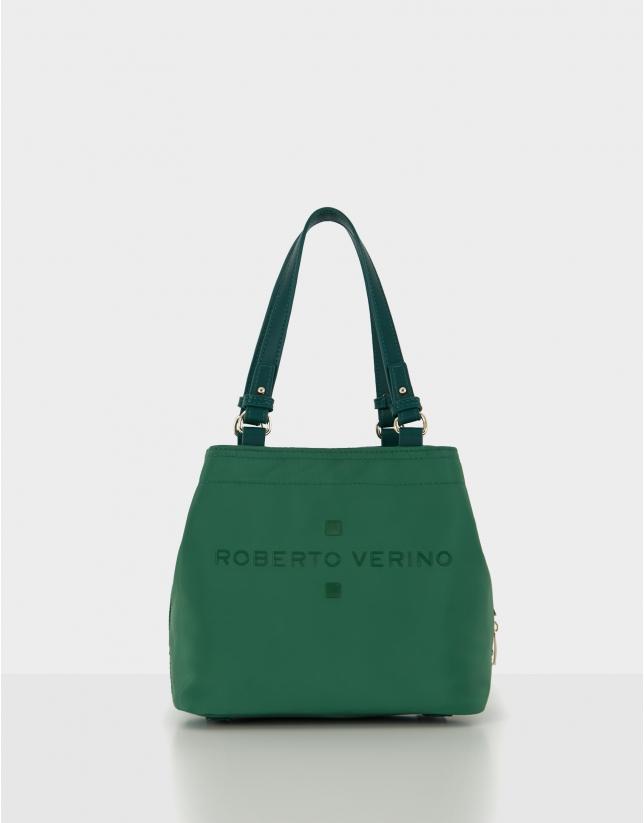 Bolso hobo Roxy S nailon verde