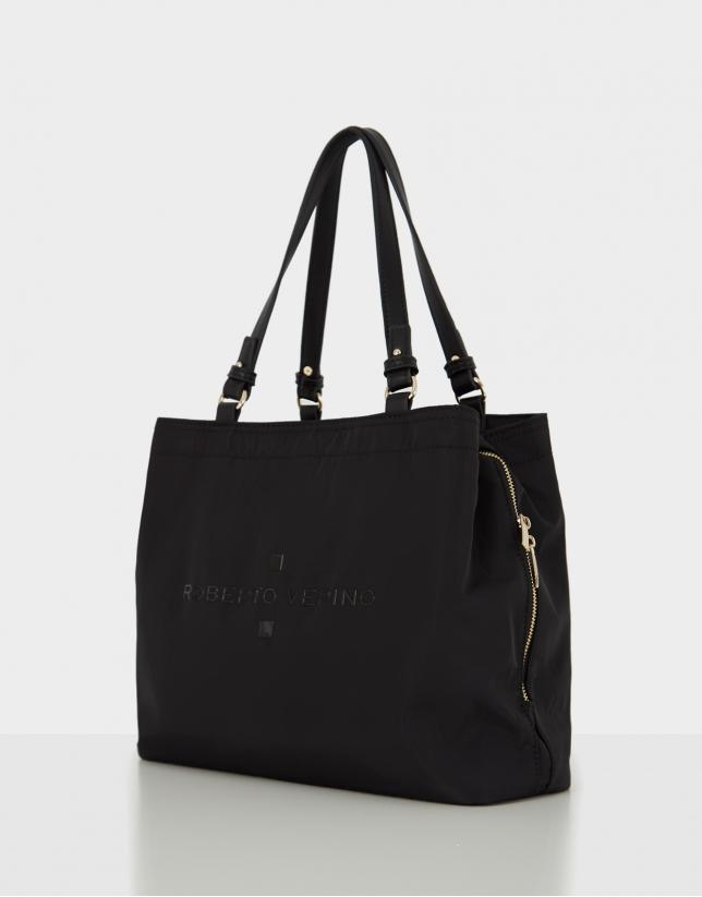 Black nylon Roxy M hobo bag