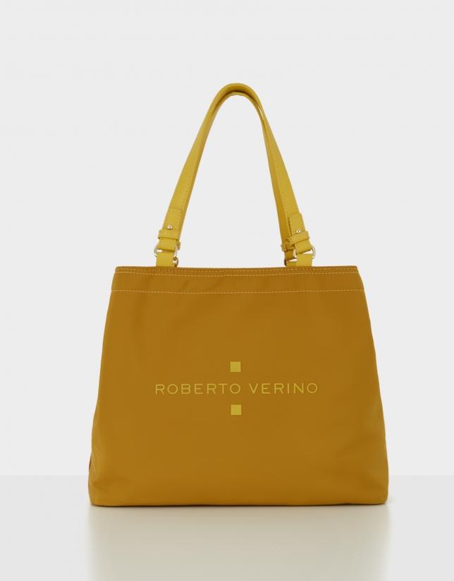 Mustard nylon Roxy M hobo bag