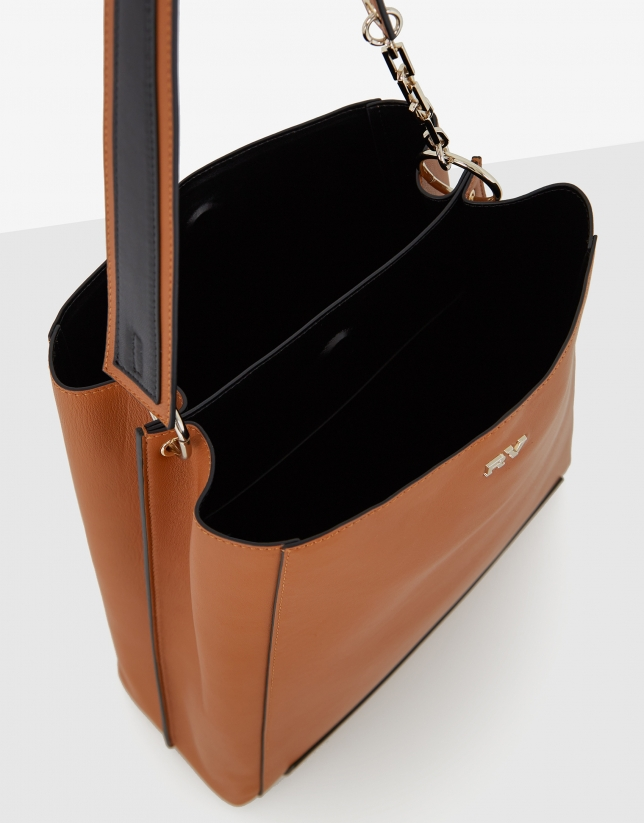 Bolso de hombro Amber Bouquet Maxi piel cuero