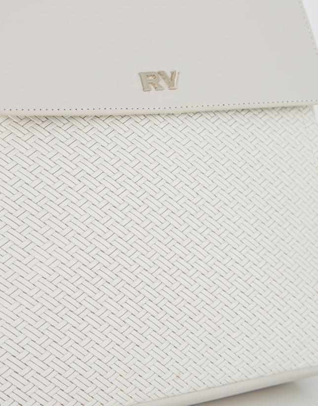 White leather midi Celia shoulder bag