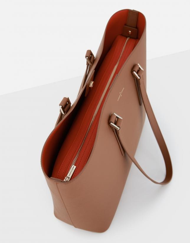 Brown Liliam shopping bag