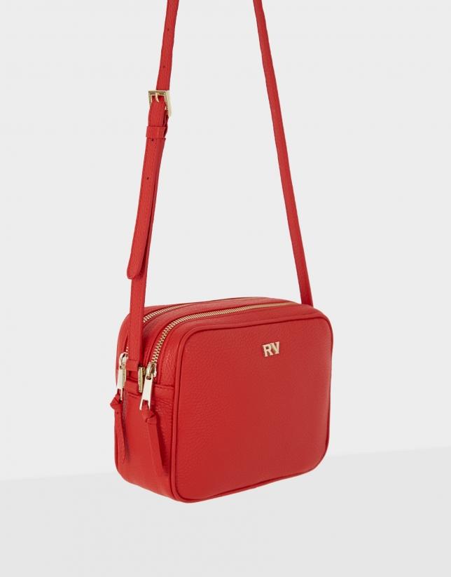 Red leather Taylor shoulder bag