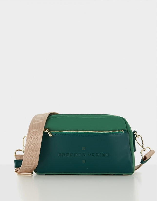 Green naylon shoulder Roxy Midi