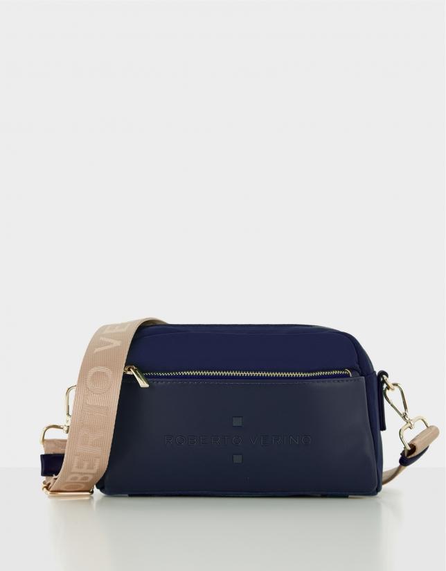 Blue naylon shoulder Roxy Midi