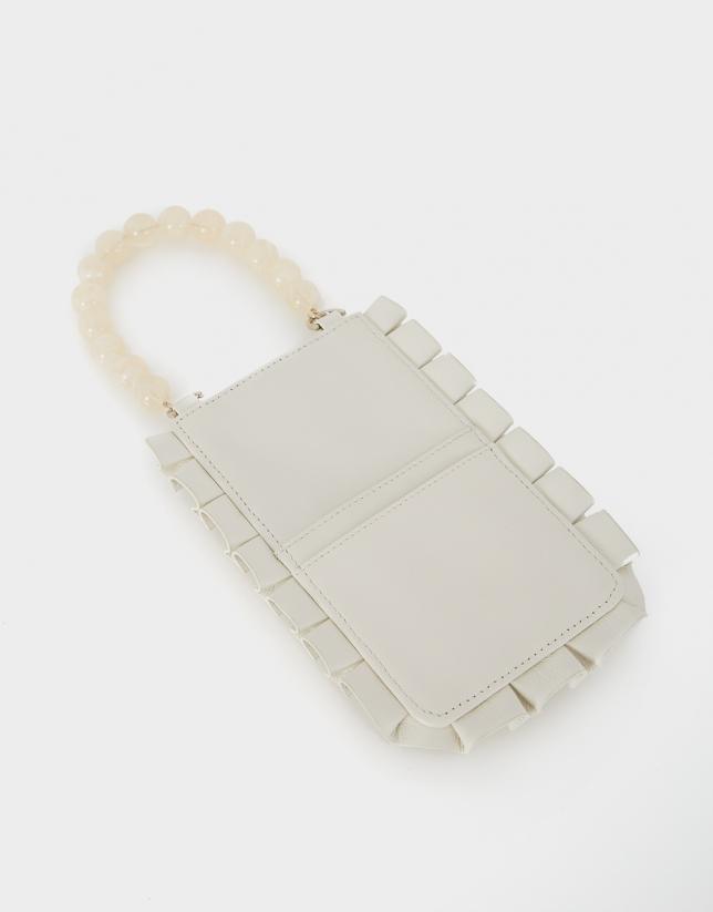 White Mini Olas cellphone bag