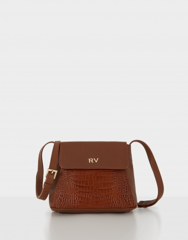 Brown leather mini Celia shoulder bag