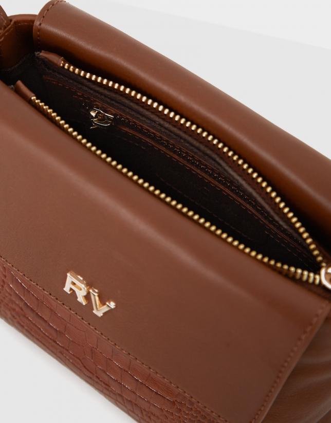 Brown leather mini Celia shoulder bag