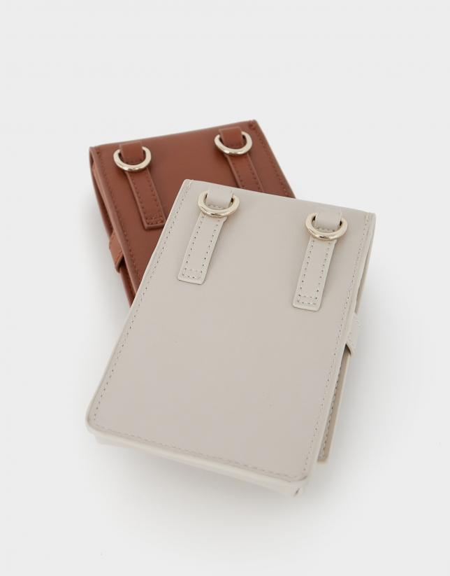 Bolso porta móvil Aina cuero