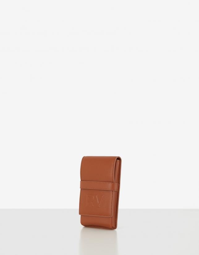 Brown Aina cellphone bag