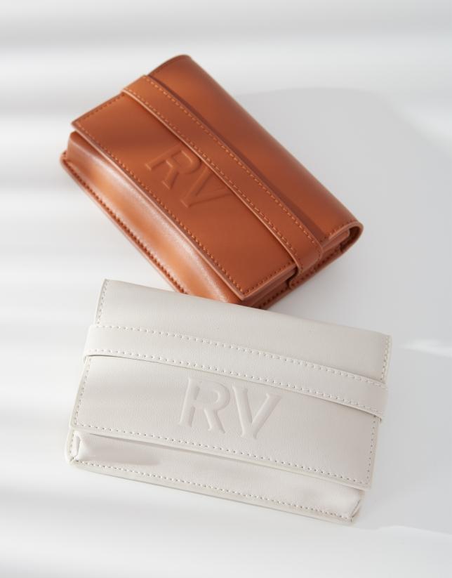 Off white mini Aina leather shoulder bag