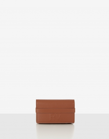 Brown mini Aina leather shoulder bag
