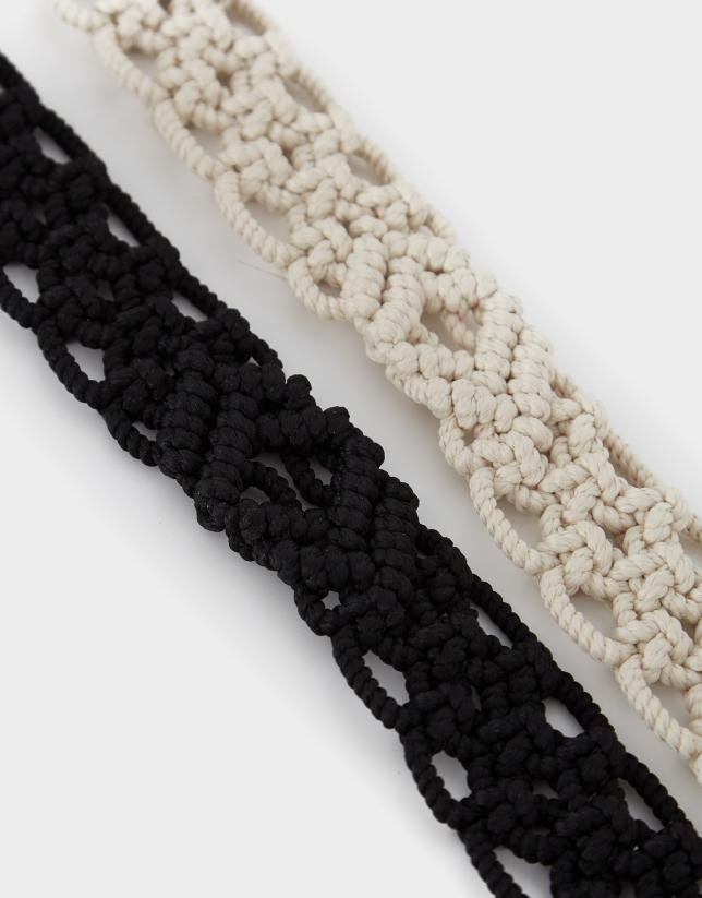 Cinturón de crochet negro