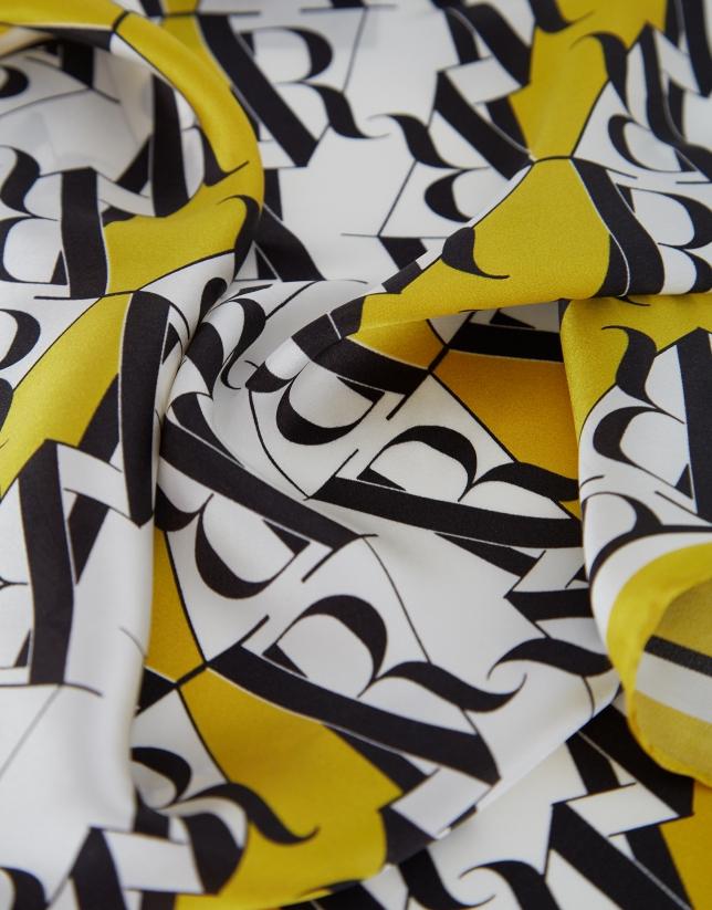 Pañuelo seda amarillo RV