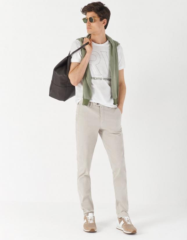 Dyed stone gray pants