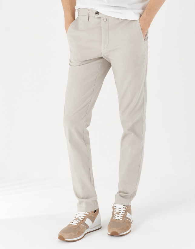 Dyed stone gray pants