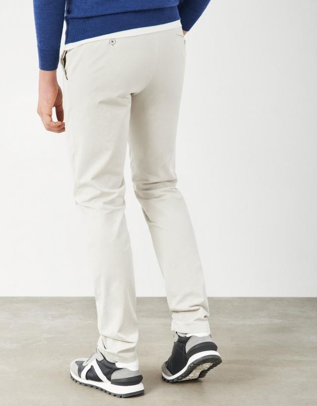 Stone cotton chino pants