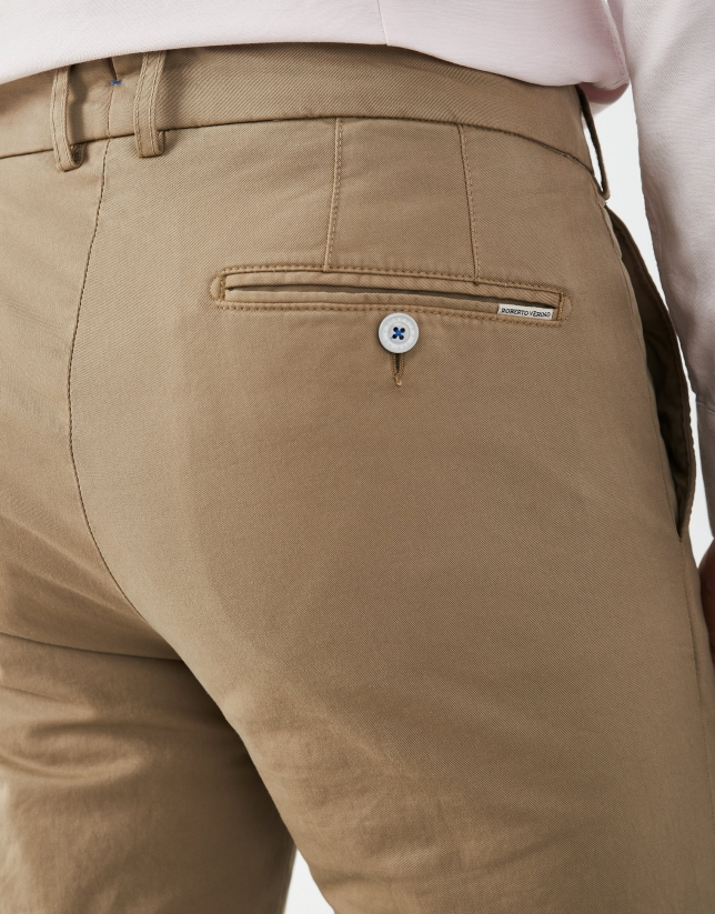 Camel regular chino pants