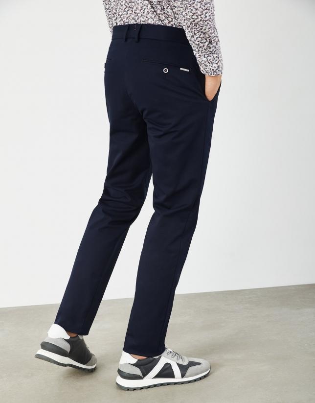 Navy blue regular chino pants